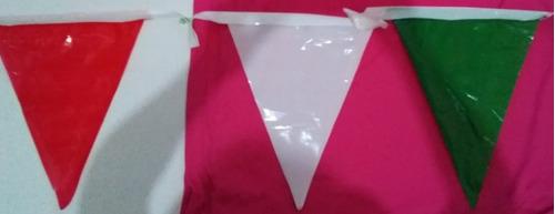 decoracion banderín de plástico forrado 10 mts de largo