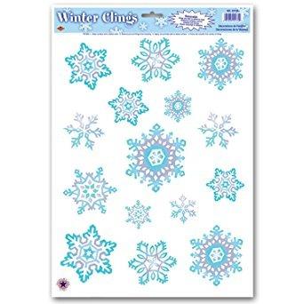 decoración beistle - crystal copo de nieve se aferra