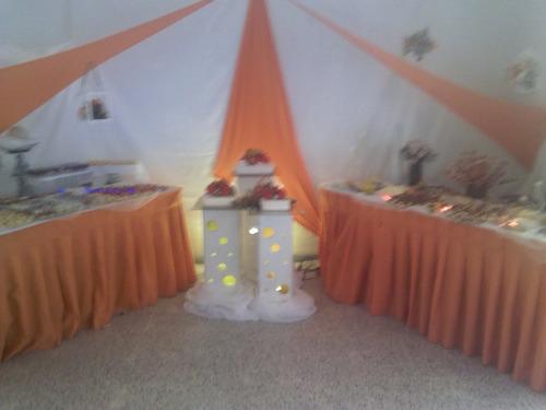 decoración, bodas, 15 años, temática, telas tensadas