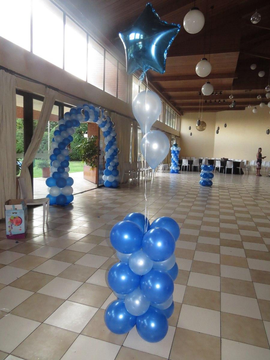 Decoracion con globos baby shower bautizos cumplea os - Decoracion con bombas para bautizo ...