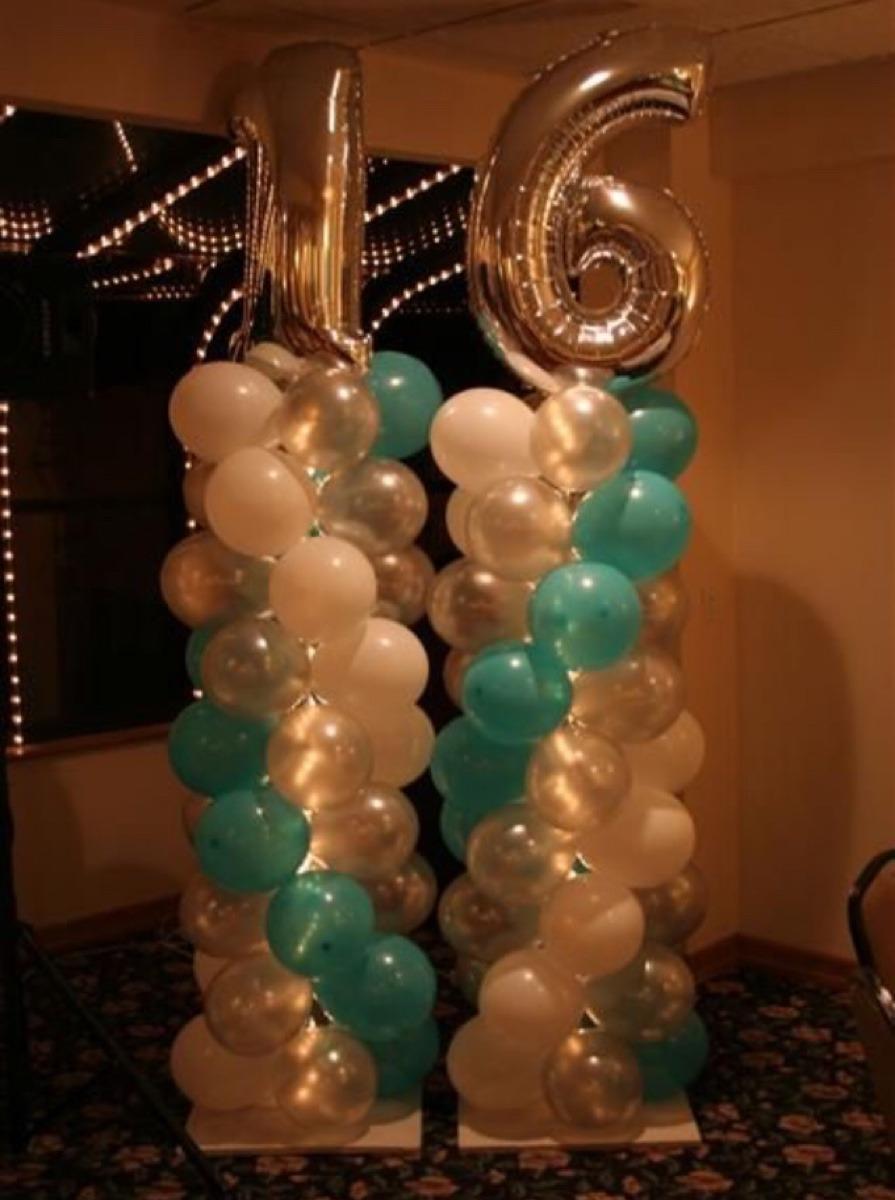 Decoracion con globos baby shower boda fiesta 15 a os for Decoracion de pared para quinceanera