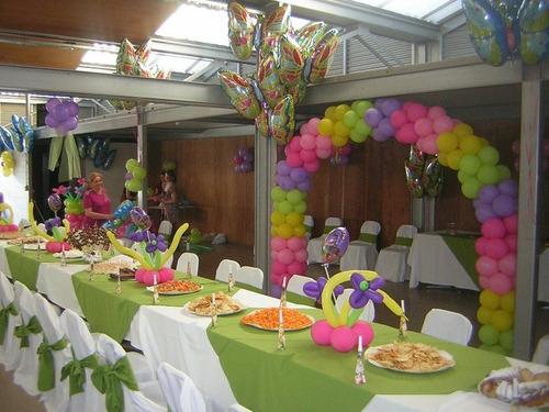 decoración con globos cumpleaños, bautizos, baby shower