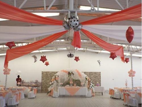 decoracion con globos eventos df xv años boda bautizo salon