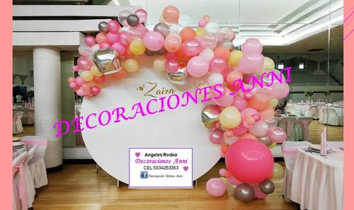 decoración con globos fiestas, eventos,
