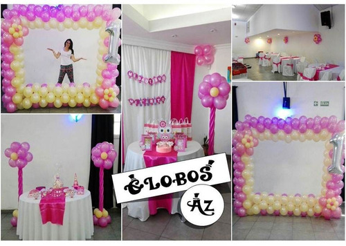 decoracion con globos - globos az