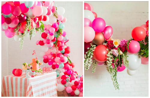 decoracion con globos infantiles baby shower bautizos evento