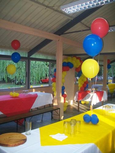 decoracion con globos - para fiestas.----  globos con helio.