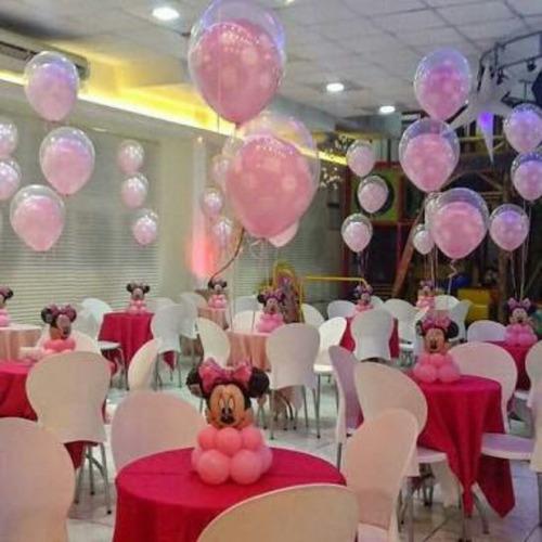 decoracion con globos telas salon eventos boda xv años helio