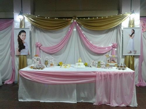 decoracion con telas - globos-manteleria-centros de mesa