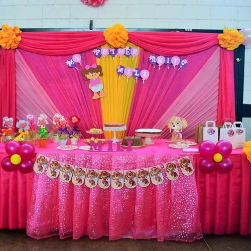 decoracion con telas y globos!!