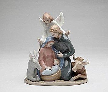 decoración cosmos regalos  angel con figurilla de cerámica