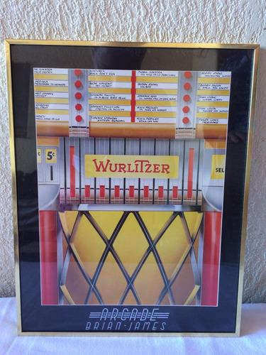 decoración cuadro bar pool billar rocola maquinita importado