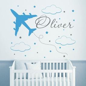 Decoración Cuarto De Niño O Bebé Aviones 1.50 X 1.50 Mts