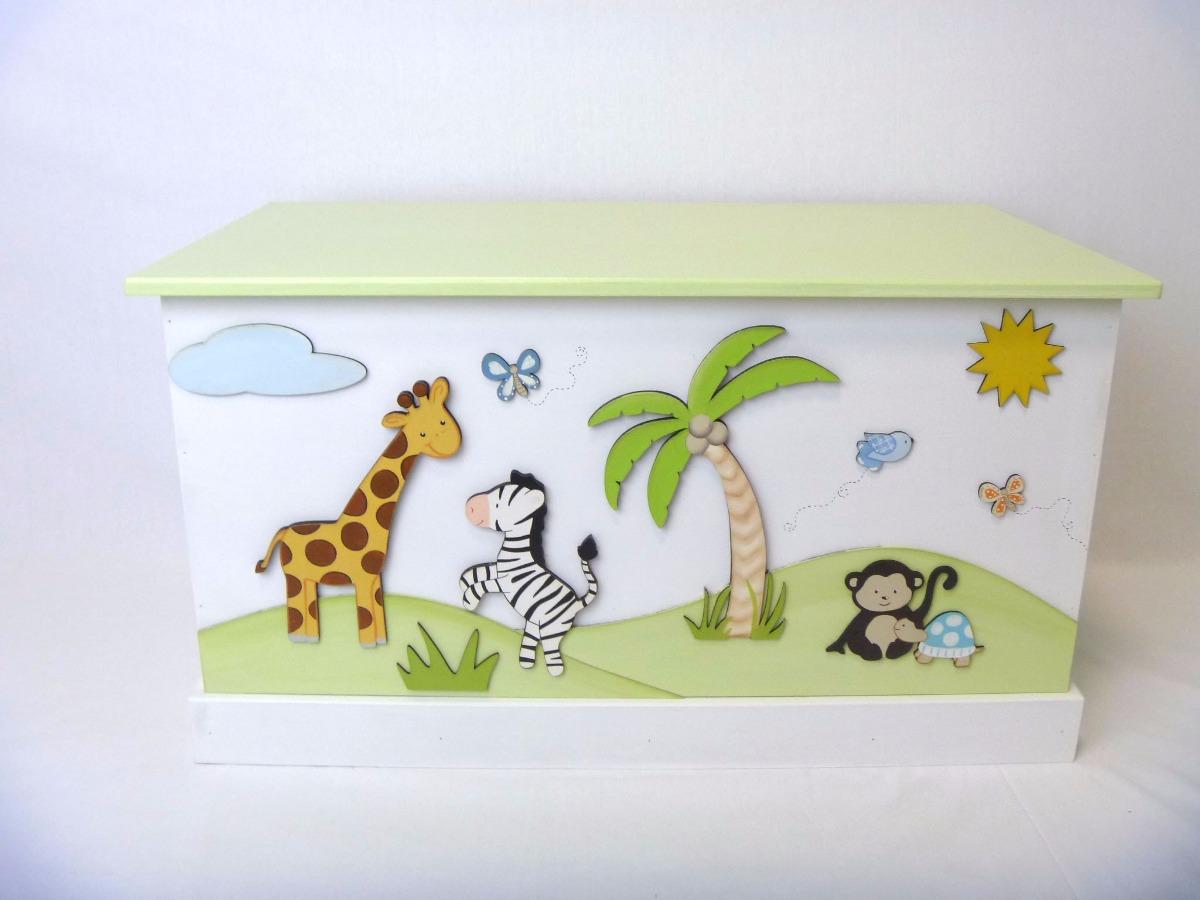 Decoracion de cuartos bebes baul para guardar juguetes - Dibujos para decorar habitacion de bebe ...
