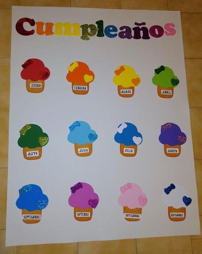 decoración de cumpleaños en foamy para salones de clase.