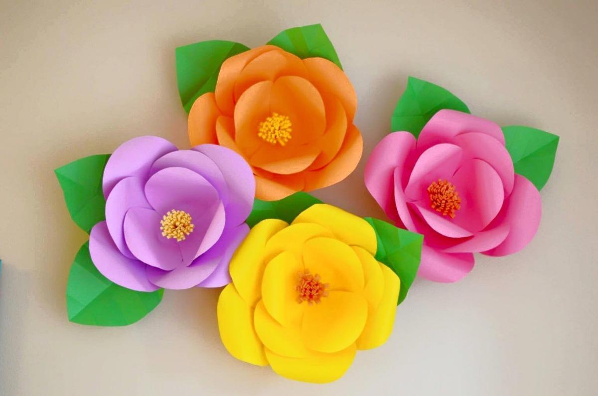 Decoracion De Cumpleanos Flores De Papel E T Recordatorios