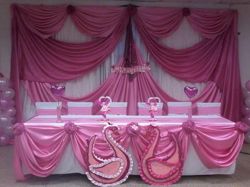 decoración de eventos en telas y globos