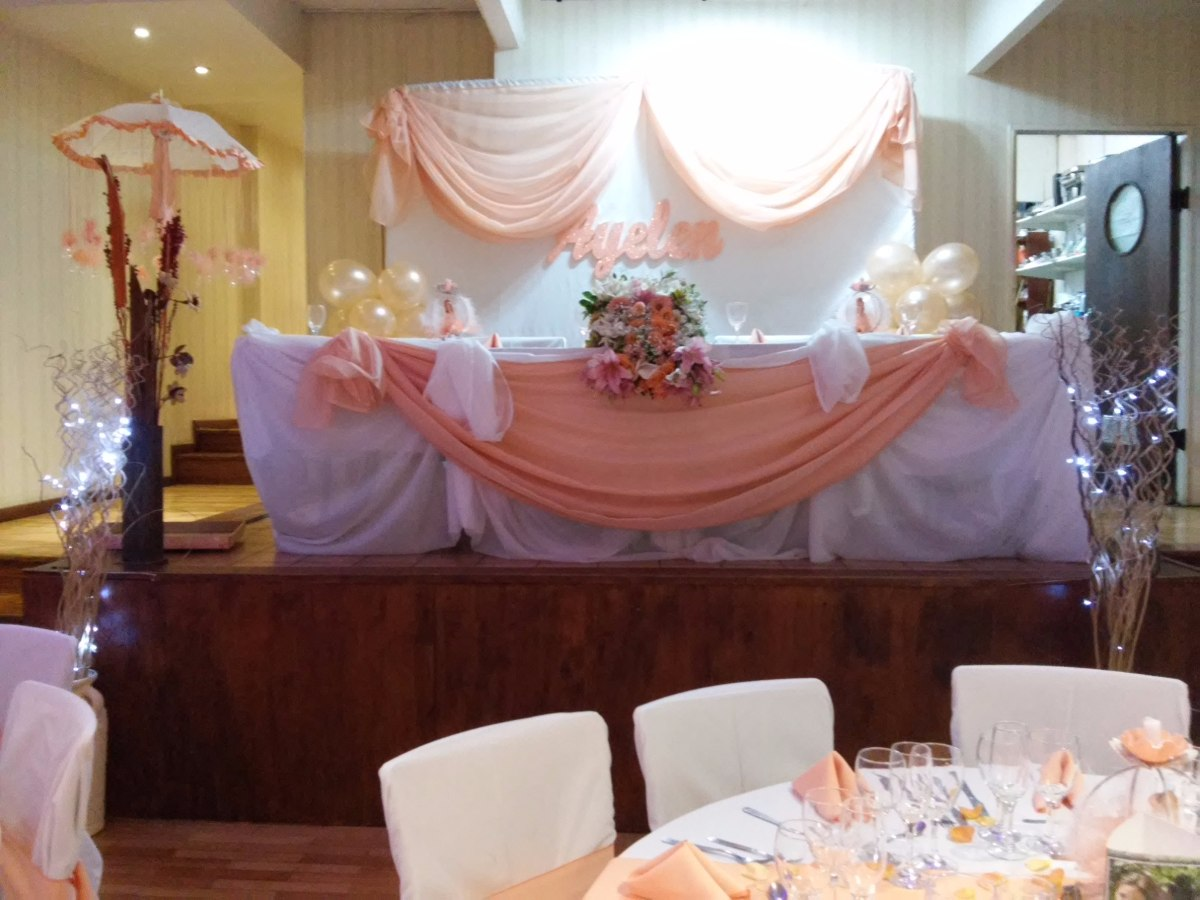 Decoracion de eventos telas globos arreglos florales for Decoracion de salon con telas y luces