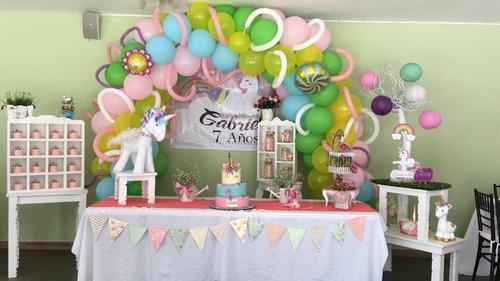 decoración de fiestas- globos y candy bar