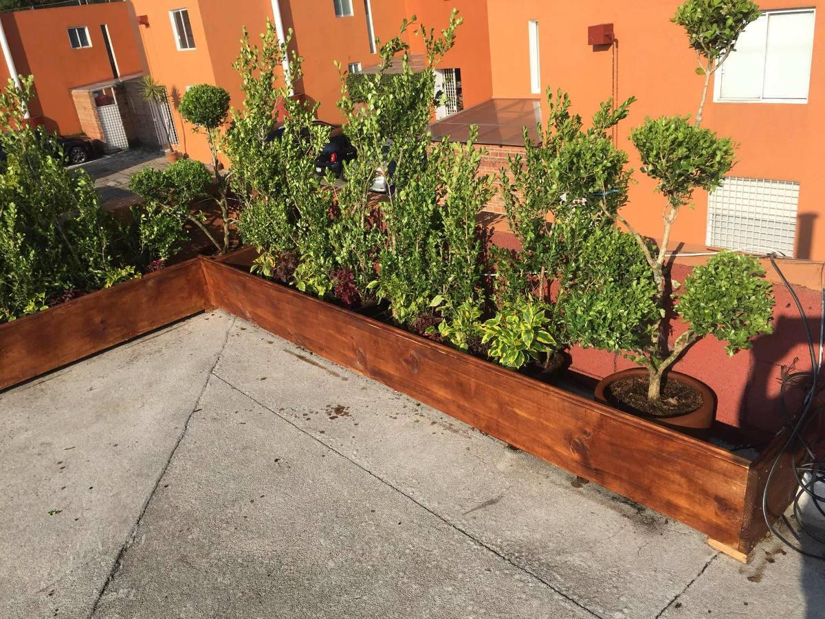 Decoraci n de jardines en azoteas jardineras macetas cdmx - Jardineras para jardin ...