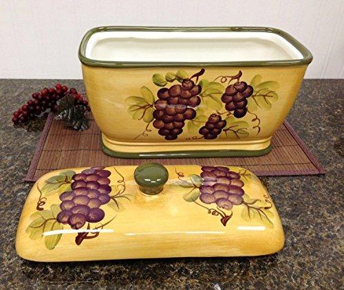Decoración De La Cocina Decoración De La Uva Caja Del Envas ...