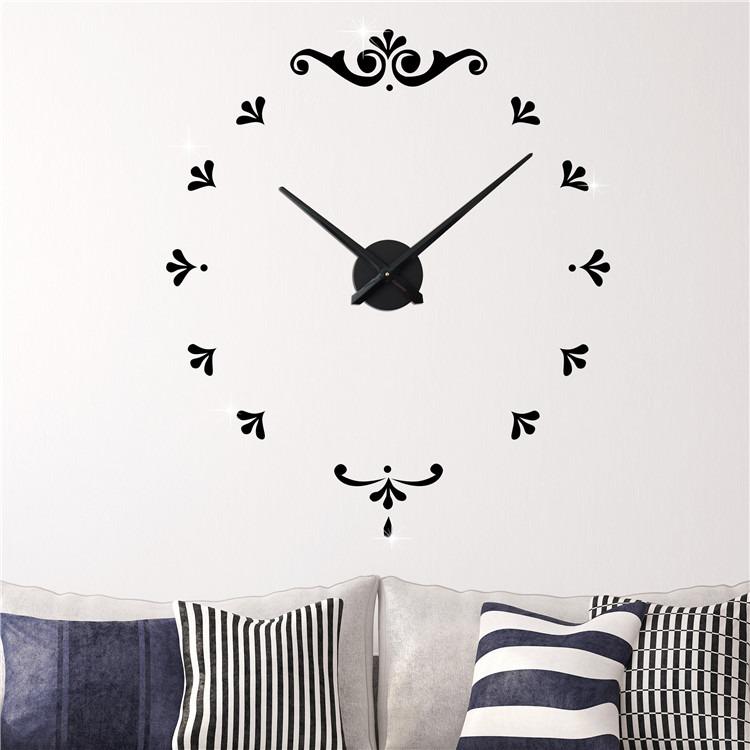 Decoración De La Pared Del Reloj De Pared 3d Sin Marco De B ...