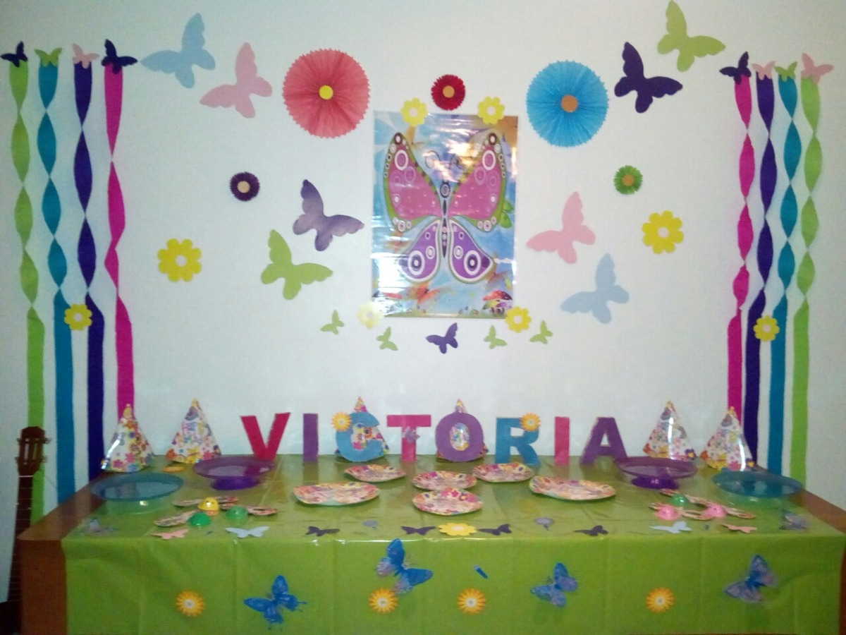 Decoraci n de mariposas para cumplea os bs en - Mariposas decoracion pared ...