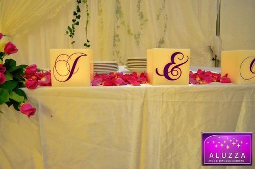 decoración de mesa principal de boda aluzza dmm
