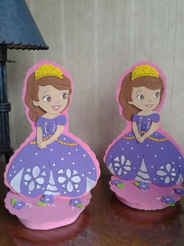 Decoracion de princesa sofia en goma eva para cumplea os for Decoracion de goma eva para cumpleanos