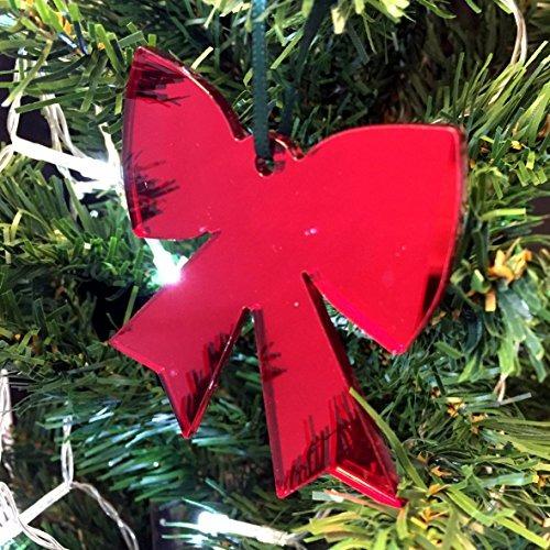 ba1d64fbed62c Decoración Del Árbol De Navidad De Lazo Rojo Reflejado - Pa ...