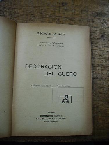 decoración del cuero - georges de recy