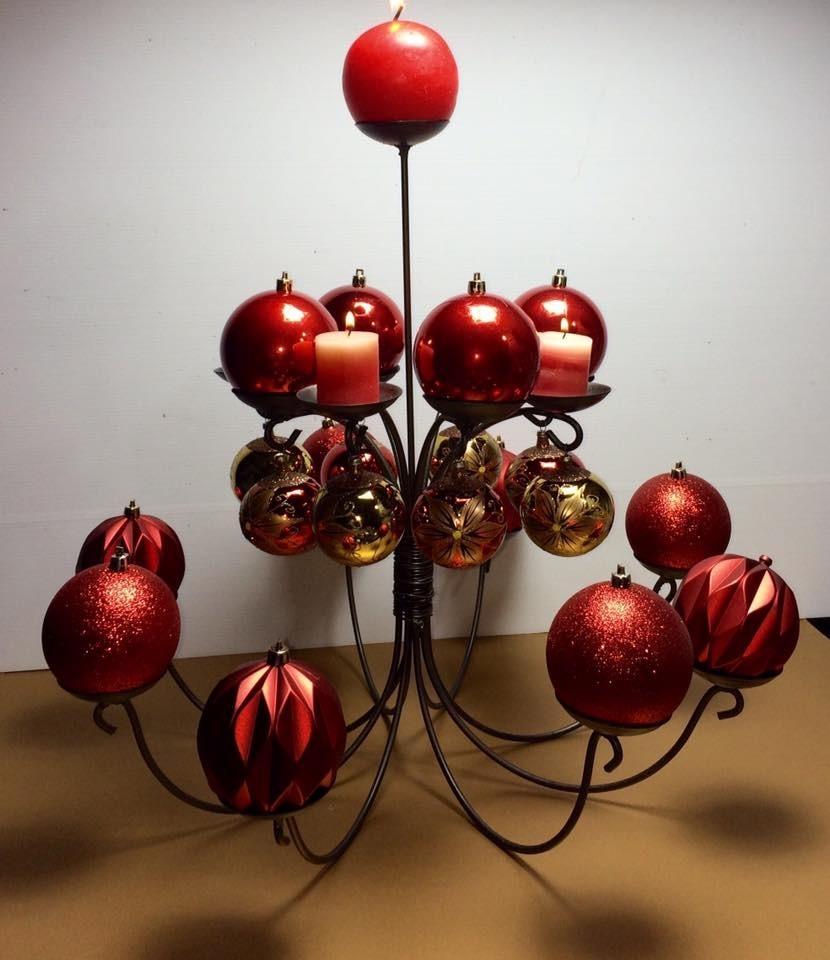 Decoraci n en herrer a navidad centro de mesa for Centros navidad para mesa