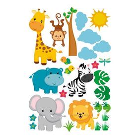 Decoración En Vinil Animalitos Selva Stickers Para Bebés