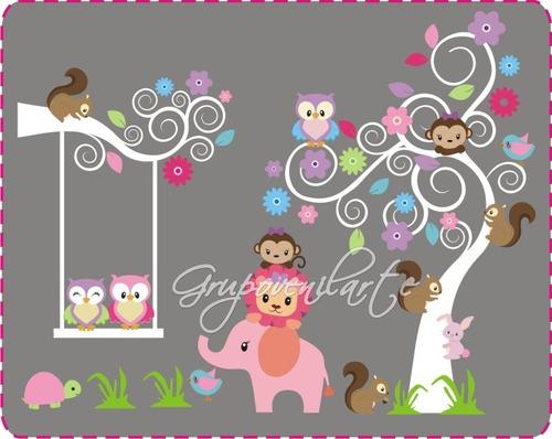 decoración en vinil. arboles. vinilos decorativos infantiles