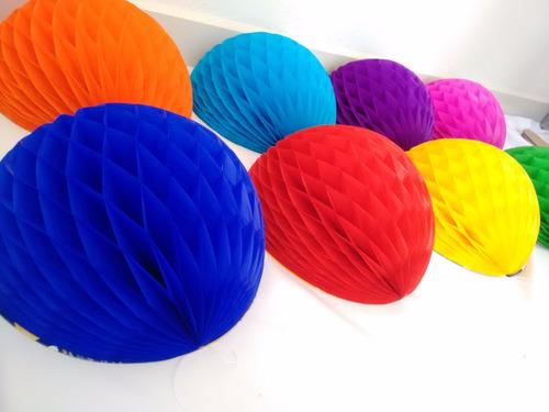 decoración esferas bolas faroles de papel china colores