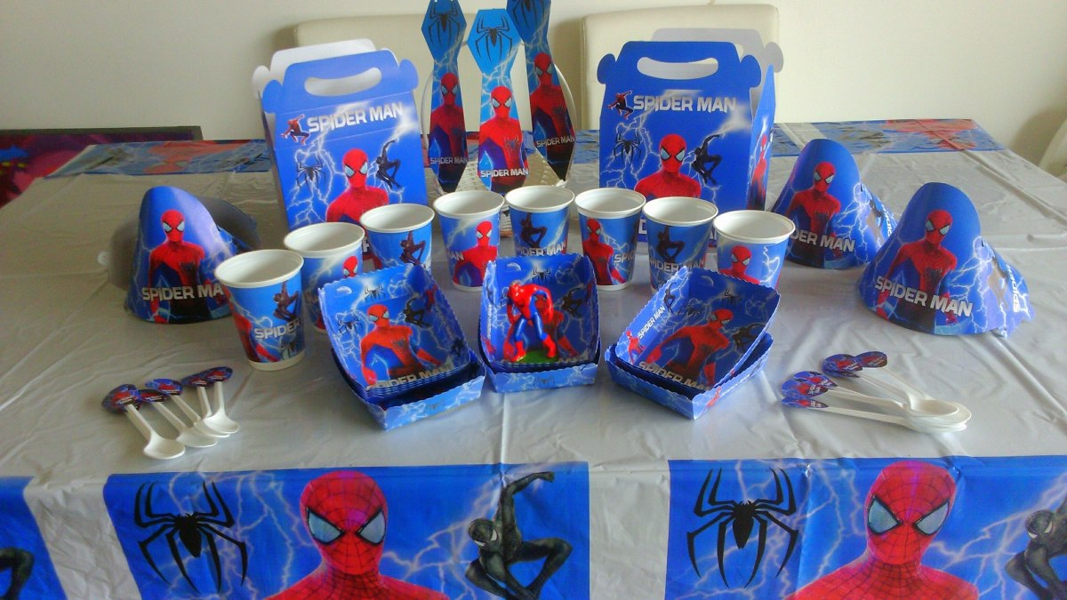 Decoracion fiesta hombre ara a spiderman 72 art culos for Articulos decoracion originales