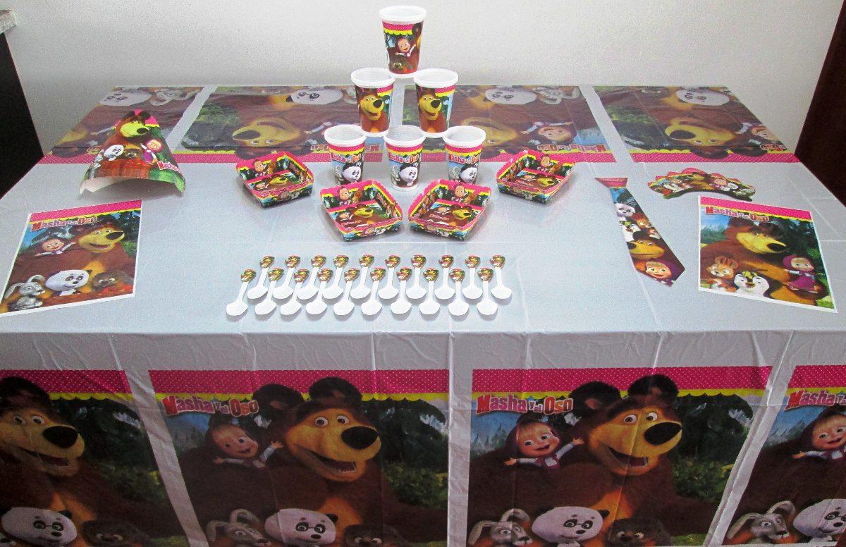 Decoraci n fiesta infantil masha y el oso 11 art culos - Articulos sobre decoracion ...