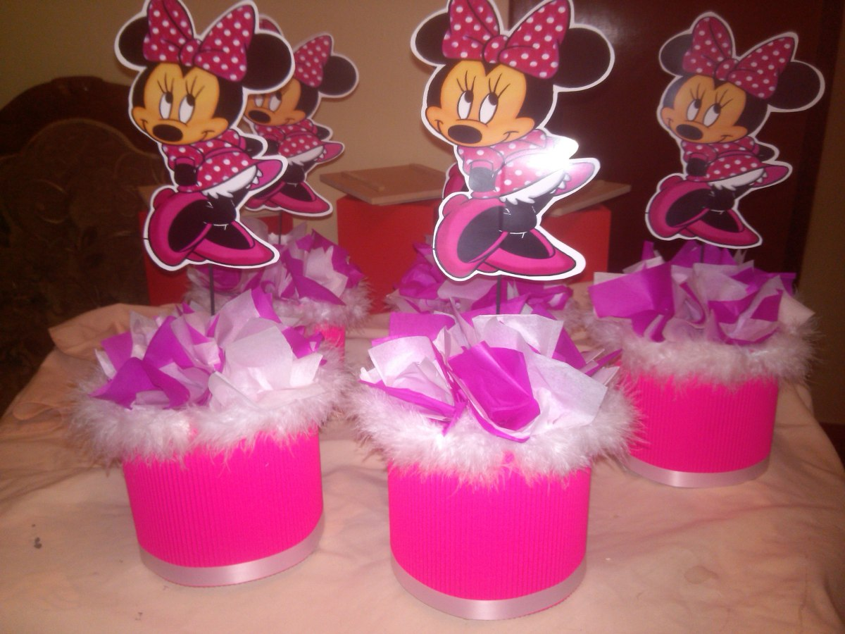 Decoracion Fiesta Infantil Minnie Mouse Bs 50000 En Mercado Libre - Adornos-fiesta-infantil