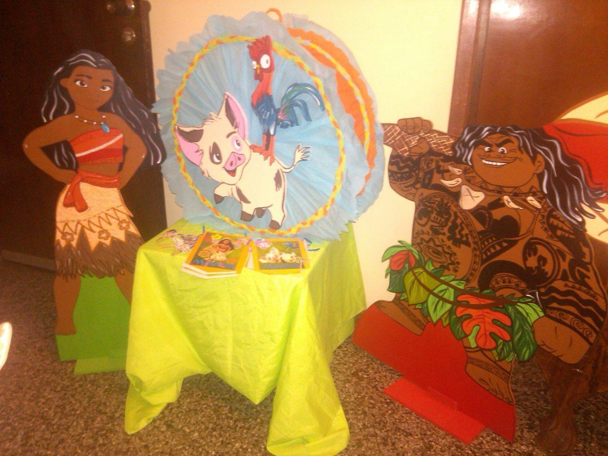 Decoracion fiesta infantil moana y maui bs - Decoracion de bodegas y merenderos ...