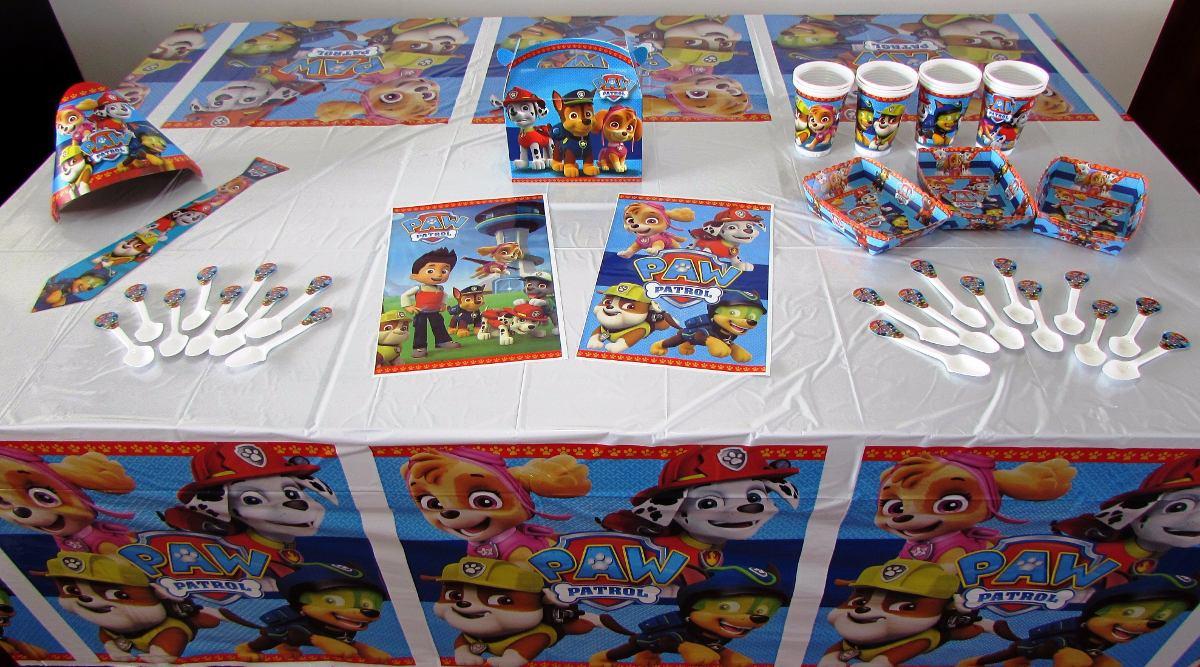 Decoración Fiesta Infantil Paw Patrol 11 Artículos