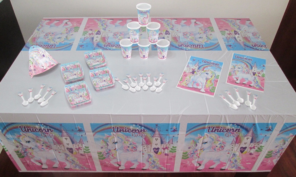 Decoraci n fiesta infantil unicornio arcoiris 9 art c for Decoracion para pared de unicornio