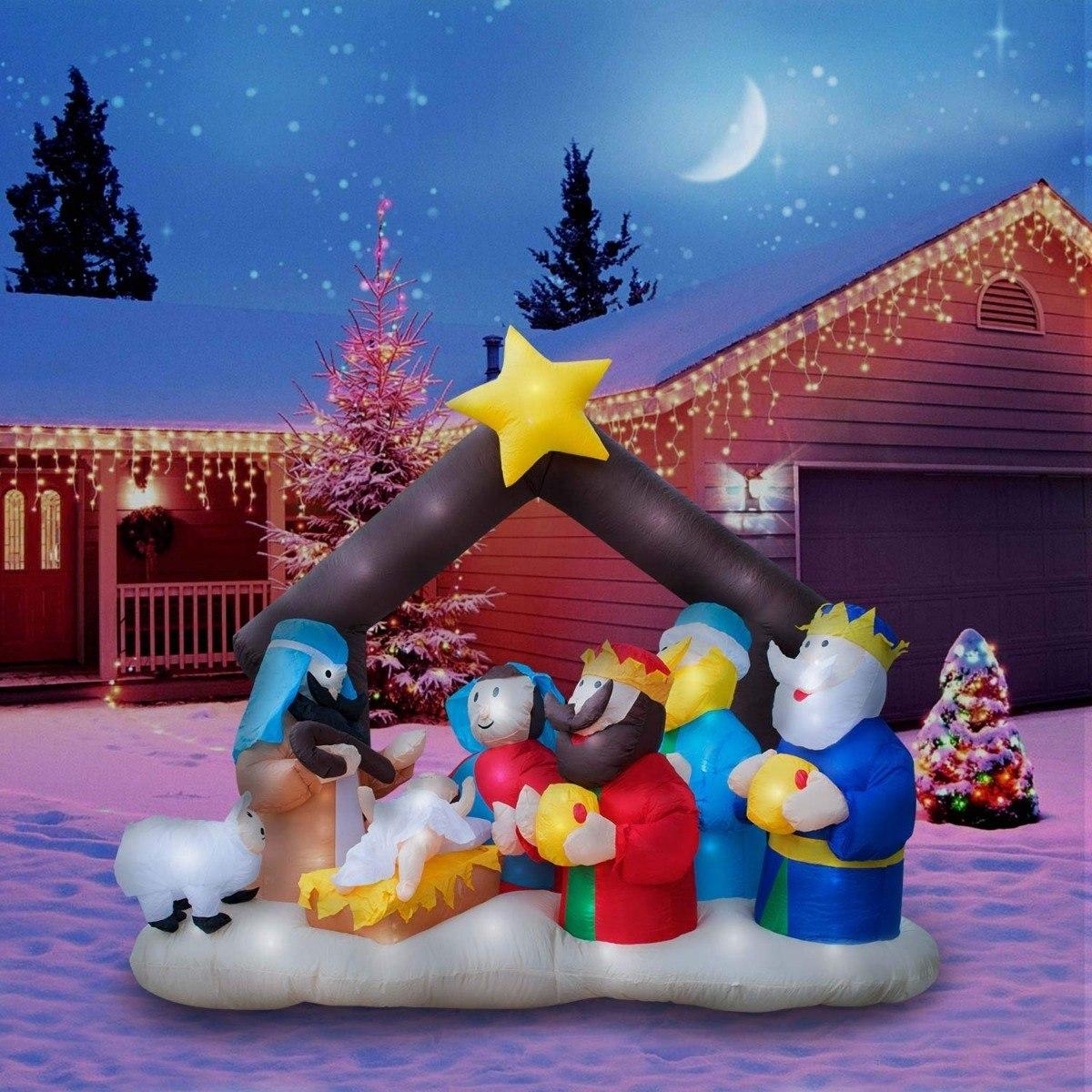 60d4b6ee7e7 decoración fiesta navidad inflable luz led nacimiento niño. Cargando zoom.