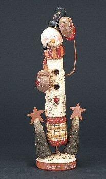 decoración figura loca montaña flaco muñeco de nieve
