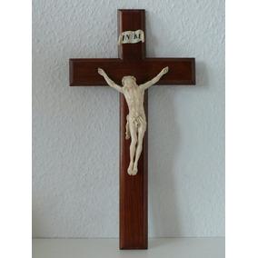 1d91d1762d6 Antigua Talla Cristo Alemán Labrado En Cruz De Madera