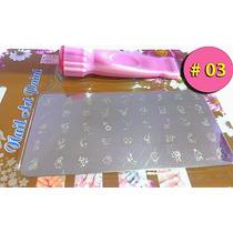 Plantillas Uñas 45 Diseños C/u Manicure Estampador Espátula