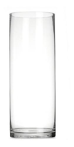 decoración florero vidrio tubo 40 cm