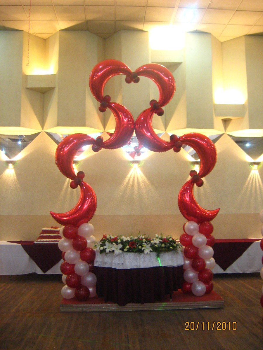 Arreglos decoraci n globos y telas fiestas eventos en for Decoracion y ambientacion de eventos