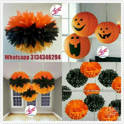 decoracion halloween calabazas pompones domicilios bombas