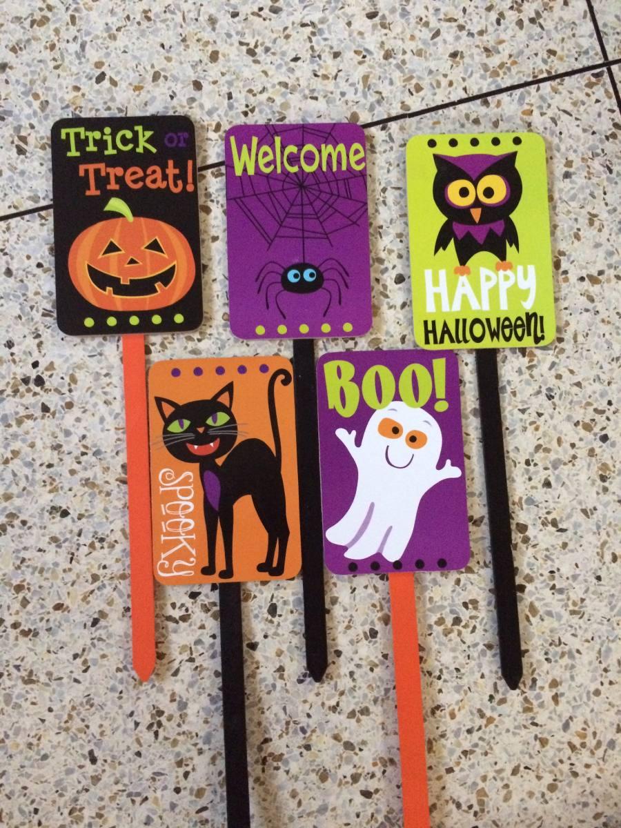 Decoracin Halloween Carteles Fiestas Infantil Estaca Jardn Bs