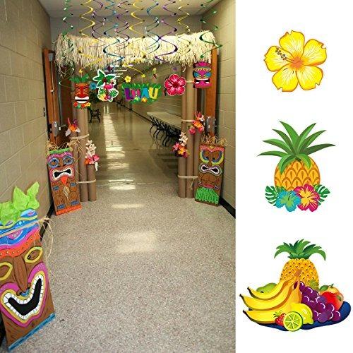 Decoracion hawaiana 30 piezas en mercado libre for Decoracion de piezas